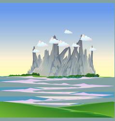 mountain landscape nature background travel sky vector image