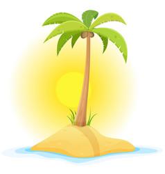 palm tree on tropical desert island vector image