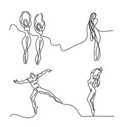 set ballet dancer ballerina vector image vector image