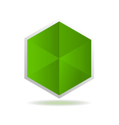 creative green abstract isolated element for logo vector image vector image