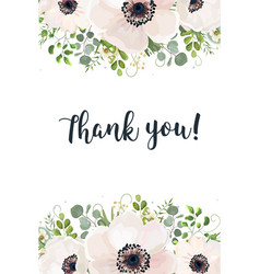 floral card watercolor design floral garden white vector image vector image
