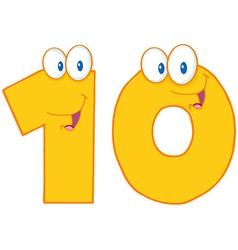 Number Ten vector image vector image