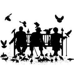Pigeon feeders vector image vector image