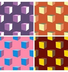 seamless abstract art pattern set vector image vector image
