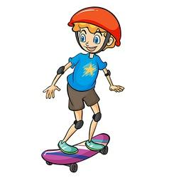 A boy playing skateboard vector image vector image