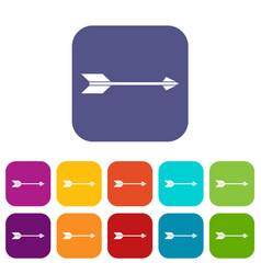 long arrow icons set vector image