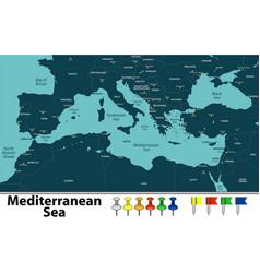 mediterranean sea vector image vector image
