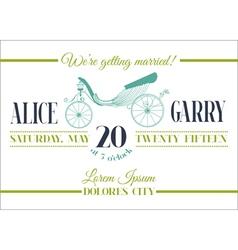 Retro Wedding Card vector image vector image