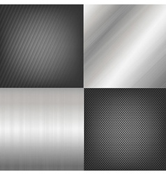 Set Of Metal Texture Background vector image vector image