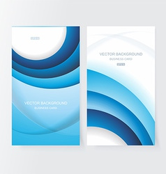 Abstract business cool blue banner set vector image vector image