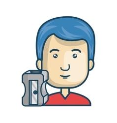 Avatar man cartoon vector