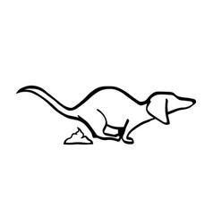 dachshund poo-poo dog handdrawing vector image
