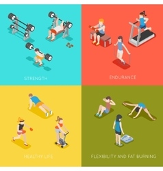Fitness concept backgrounds vector image vector image