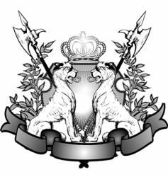 heraldry lions vector image
