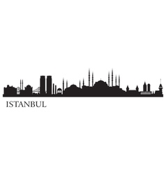 Istanbul city silhouette vector image