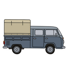 Old delivery car vector
