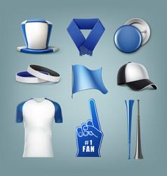 set of fans acessories vector image