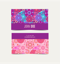 template business cards pattern with islamic vector image