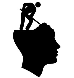 Under Construction Head vector image