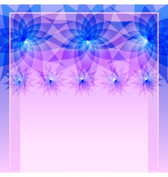 Abstract blue background with flowers vector