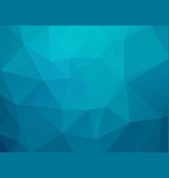 abstract blue green triangles background vector image