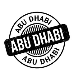 Abu dhabi rubber stamp vector