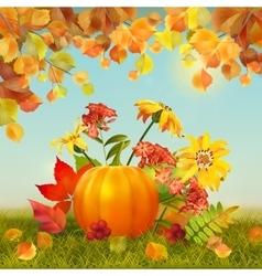 Autumn Thanksgiving Card vector