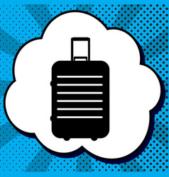 baggage sign black icon in vector image