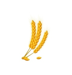 Barley ear icon cartoon style vector image