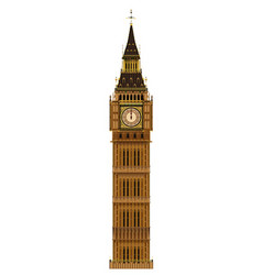 Big ben isolated vector