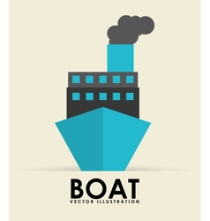 boat transport vector image