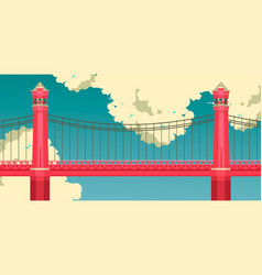 bridge against the sky vector image