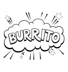 burrito word comic book pop art vector image