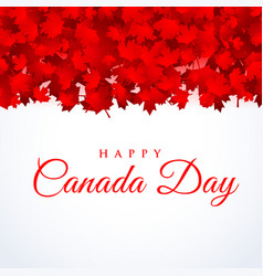 Canada day background with maple leafs vector