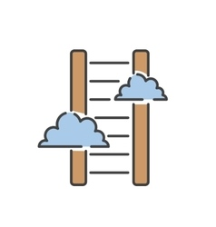 Career ladder thin line icon vector image