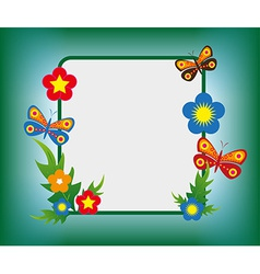 cartoon flower frame background vector image