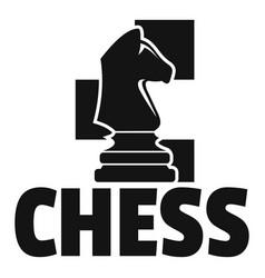 Chess horse logo simple style vector