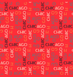 chicago pattern seamless design vector image