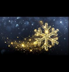 Christmas magic snowflake vector image