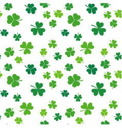 clover seamless pattern st patricks day vector image