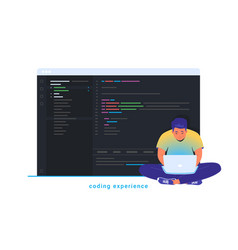 coding experience and software development vector image