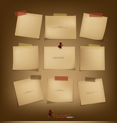 Collection of Vintage paper vector