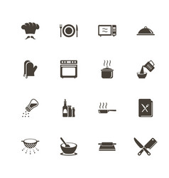 cooking - flat icons vector image vector image