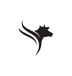 Cow logo template icon vector