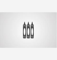 crayon icon sign symbol vector image