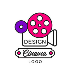 creative modern cinema or movie logo template vector image