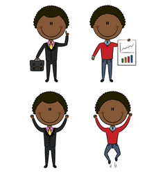 Cute African-American businessmen vector image