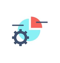 Data processing icon vector
