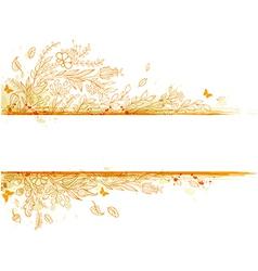 Decorative autumn background vector image