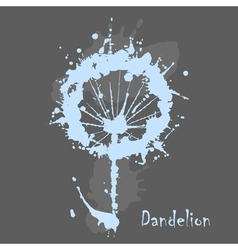 Decorative watercolor dandelion vector
